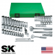Set Socket Chrome 3/8 & 1/4 Drive Standard/Deep Metric 62 Piece (SK94562)