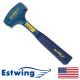 Estwing B3-3LB Solid Steel 3lb Drilling Hammer with Nylon Grip
